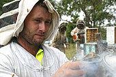 On the roads of perpetual honey flow, Portrait of Ben Brown, NSW, Australia