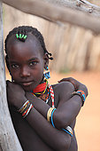 Portrait of a young Hamer. The Honey Tribe, Omo valley, Ethiopia