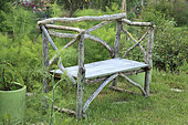 Bench, The Garden of Mary, Neuilly-en-Sancerre, The Pinard Wood, Cher, France