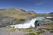 Salto Chico of the Rio Paine, Torres del Paine National Park, XII Magallanes and Chilean Antarctic Region, Chile