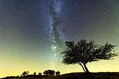 Milky Way over the Jura ridges, Grand du Colombier, Ain, France