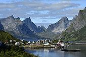 Village of Reine in summer, Lofoten, Norway