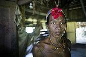 Portrait of Amantari, 39 years-old, shaman, Pulau Siberut, Sumatra, Indonesia