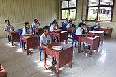 6th grade class, Ugai, Pulau Siberut, Sumatra, Indonesia