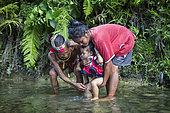 Poto, 61, shamane, performs the ceremony called Pubela, Ugai, Pulau Siberut, Sumatra, Indonesia