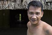 Portrait of Syarul, 36 years old, Pulau Siberut, Sumatra, Indonesia