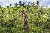Shaman seeking medicinal plants, Pulau Siberut, Sumatra, Indonesia
