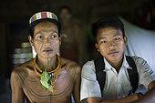 Amantari, 39, and his son Lagaï, 13, Pulau Siberut, Sumatra, Indonesia