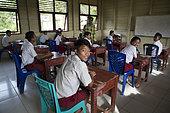Lagaï, 13 years old in his 6th grade class in Ugai middle school, Pulau Siberut, Sumatra, Indonesia