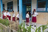 Ugai middle school, Pulau Siberut, Sumatra, Indonesia