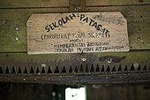 Sekolah Patas, an unofficial, non-governmental school, Pulau Siberut, Sumatra, Indonesia