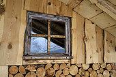 Wooden hut, Mettey camp, Vagney, Vosges, France