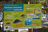 Information panel on the conservation of marine turtles and their habitats, Guadeloupe