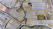 Aerial view of the salt marshes of Guérande, Atlantic coast, France