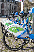 Self-service bicycles integrated into the public transport network of Calais, France
