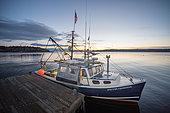Scallop boat. Cousins Island, Maine