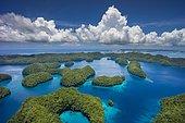 Islands in the island paradise of Palau, Micronesia, Oceania