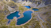 Overlooking East view of the Robert's Lakes in summer, Chamrousse, Alpes, France