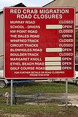 Sign for Crab Protection, Gecarcoidea natalis, Christmas Island, Australia