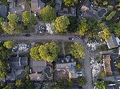 Damage caused by Hurricane Harvey, Houston, Texas, USA - September 2017
