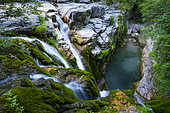 Aso Waterfalll, Añisclo Canyon, Ordesa y Monte Perdido National Park, Huesca, Aragon, Spain, Europe