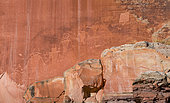 Petroglyhps (Fremont culture), Capitol Reef National Park, Utah State Route 24, Utah, Usa, North America, America