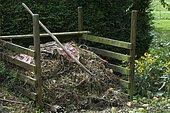 Compost, Forgeneuve garden, Nièvre, France
