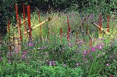 Jardin 'Shishi Odoshi', Colafranceschi - Hebrand. Festival des jardin. Décoration. Chaumont sur Loire, France.