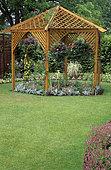 Small Garden with Gloriette, RHS Garden Wisley, Surrey, England