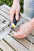 Fabriquer un cordeau de jardin