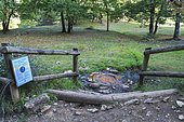 Gallo-Roman saline source of Bard, Valley of the Saints, Sentier des Chimneys of Fairy, Auvergne, France