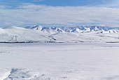 Dalton Highway : from Fairbanks to Prudhoe Bay, The Brooks Range in Autumn from the North of Atigun Pass, Alaska, USA