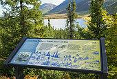 Dalton Highway : from Fairbanks to Prudhoe Bay, Roadside Information Signs, Grayling Lake, Alaska, USA