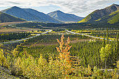 Dalton Highway : from Fairbanks to Prudhoe Bay,,The road and the pipeline, Alaska, USA