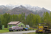 Dalton Highway : from Fairbanks to Prudhoe Bay, The former mining village of Wiseman (mile 189), Alaska, USA