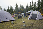 Hunting camp, Denali Highway: from Paxson to Cantwell, Alaska, USA