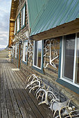 Alpine creek lodge at mile 66, Denali Highway: from Paxson to Cantwell, Alaska, USA