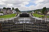 Fort Augustus locks, Loch Ness channel, Highlands, Scotland,United-Kingdom