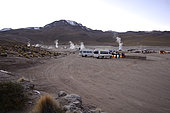 Tatio Geysers at dawn, Puna de Atacama, near San Pedro de Atacama, II Antofagasta Region, Chile