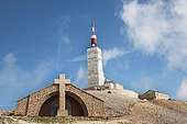 Chapel holly cross xwwx xwAand observatory at the top of Mont Ventoux. Vaucluse 84, Provence-Alpes-Cote d'Azur, France
