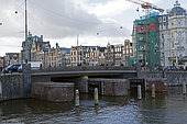 Protective Locks of the City against Rising Water in Station District in Amsterdam, Holland, Netherlands