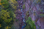 The Cians Gorge seen by drone, Alpes-Maritimes, France