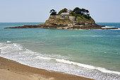 Island and fort Du Guesclain, Emerald Coast, Brittany, France