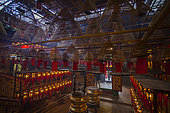Incense and Lanterns in a Temple, Hong Kong City, China