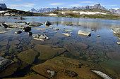 Mountain lake, Bear's Archipelago, East Coast Greenland
