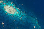 Aerial view of one of the many reefs of Mayotte.