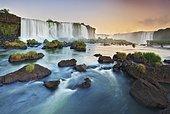 Iguazu falls. Iguaçu River falls is the biggest waterfalls in the world