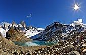 Laguna de los Tres and Fitz Roy mount, Los Glaciares National park Patagonia, Argentina
