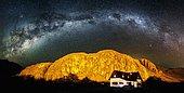 House under the milky wayArgentina Patagonia.
