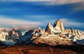 Long exposure of Fitz Roy mount, Los Glaciares National park Patagonia, Argentina